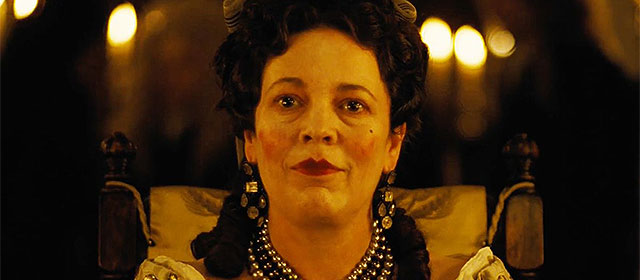 Olivia Colman dans La Favorite (2019)