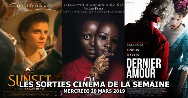 Les sorties cinéma de la semaine - mercredi 20 mars 2019