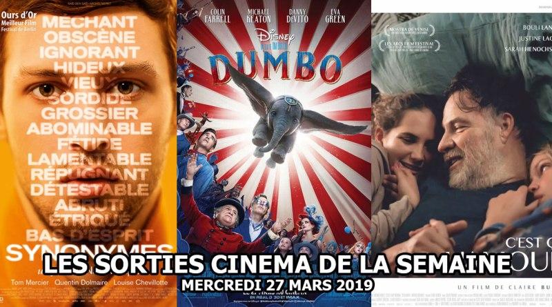 Les sorties cinéma de la semaine - mercredi 27 mars 2019