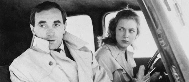 Charles Aznavour et Marie Dubois dans Tirez sur le pianiste (1960)