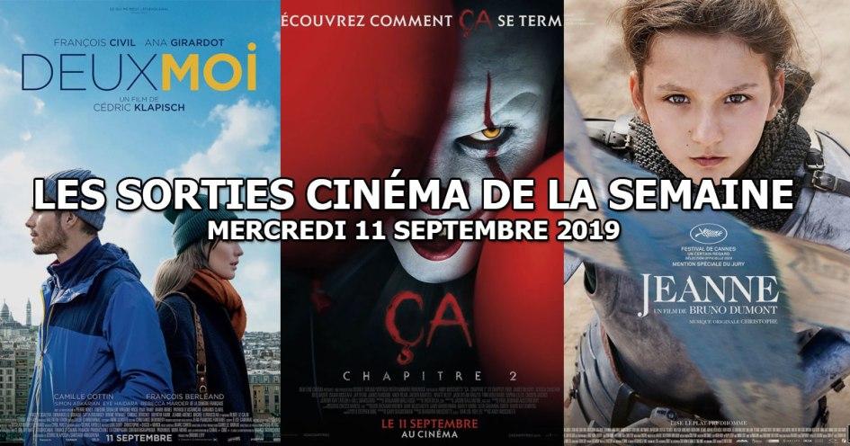Les sorties cinéma de la semaine - mercredi 11 septembre 2019