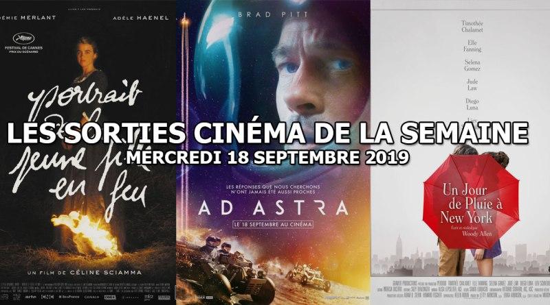 Les sorties cinéma de la semaine - mercredi 18 septembre 2019
