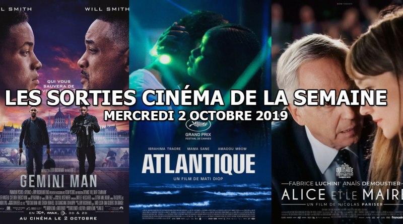 Les sorties cinéma de la semaine - mercredi 2 octobre 2019