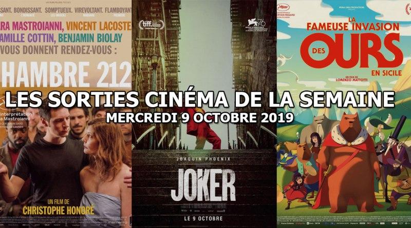Les sorties cinéma de la semaine - mercredi 9 octobre 2019