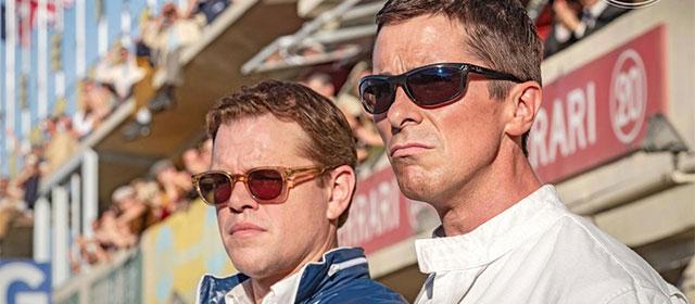Matt Damon et Christian Bale dans Le Mans 66 (2019)