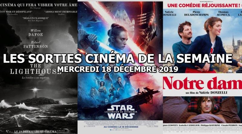 Les sorties cinéma de la semaine - mercredi 18 décembre 2019