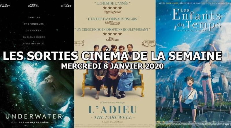 Les sorties cinéma de la semaine - mercredi 8 janvier 2020