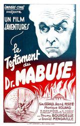 Affiche du Testament du Docteur Mabuse (1933)