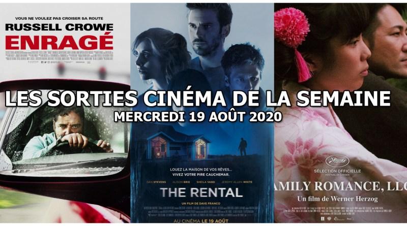 Les sorties cinéma de la semaine - mercredi 19 août 2020
