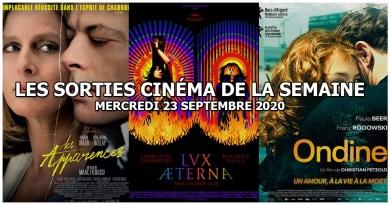 Les sorties cinéma de la semaine - mercredi 23 septembre 2020