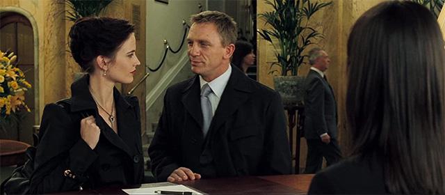 Eva Green et Daniel Craig dans Casino Royale (2006)