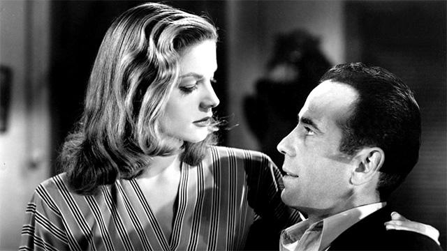Lauren Bacall et Humphrey Bogart dans Le Port de l'angoisse (1944)