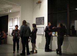 Current Gallery: Alphabet exhibit (photo by Eileen Wold)