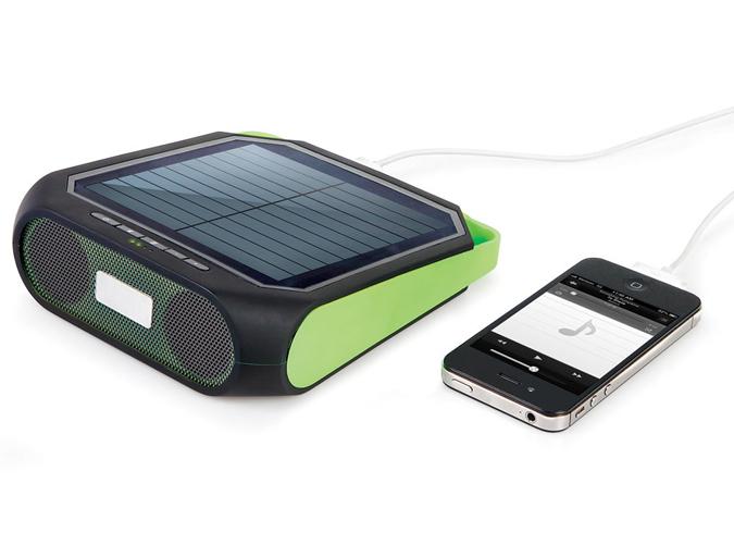 Hammacher Schlemmer Portable Solar Speaker