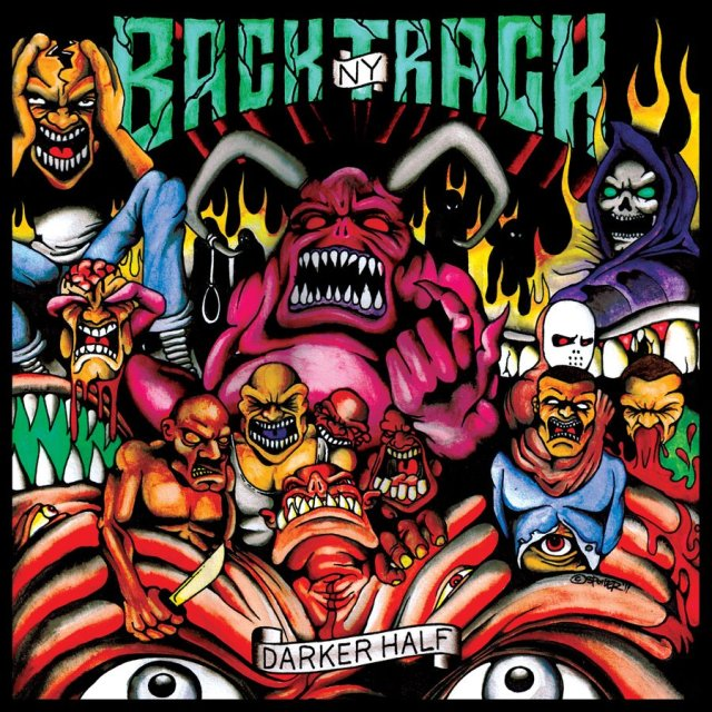 "The album art for Backtracks' 2011 album, ""Darker Half,"" features a slew of demonic like characters"