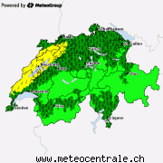 Allarmi meteo attuali per la Svizzera