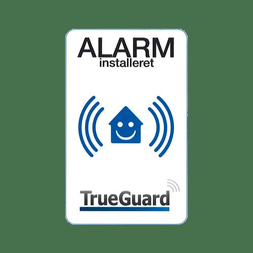 Skilte/mærkater TrueGuard Alarm