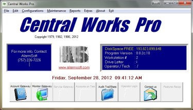 Central Works Pro screen