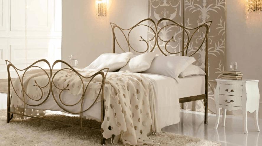 Letto matrimoniale ferro battuto shabby chic verde. Wrought Iron Bed Monic Alarus Interiors