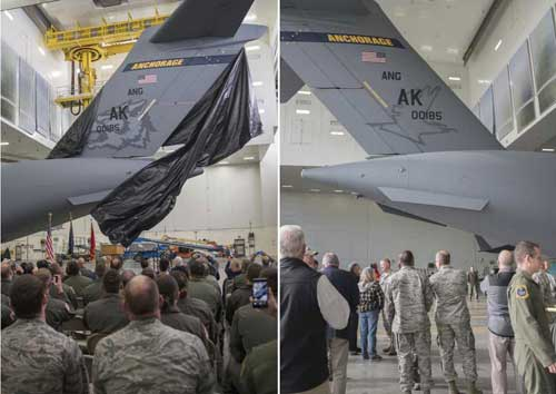 Alaska Air Guard C-17's Fresh Tail Paint Harkens to Past and Future