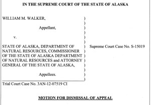 Governor Walker's Motion for Dismissal of Appeal