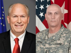 Alaskan Governor Bill Walker (Left) and General Raymond T. Odierno, the 38th Chief of Staff of the U.S. Army (Right)