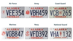 Examples of current Veterans plates. Image-DMV