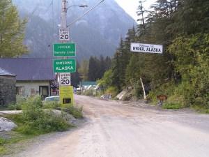 Hyder, Alaska border crossing. Image-Wikipedia