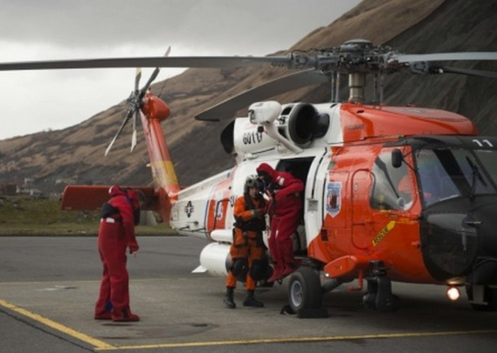 Coast Guard Rescues Three Mariners near Kodiak