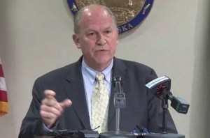 Governor Walker at a May 18th press conference. Image-State of Alaska