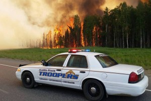 Th Willow Sockeye Fire. Image-Alaska State Troopers