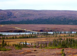 The Denali Highway crosses the Susitna River at mile 79.5. Image-Beeblebrox (Wikipedia-Creative Commons)