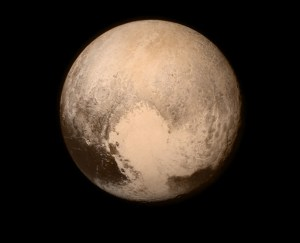 Pluto nearly fills the frame in this image from the Long Range Reconnaissance Imager (LORRI) aboard NASA's New Horizons spacecraft, taken on July 13, 2015 when the spacecraft was 476,000 miles (768,000 kilometers) from the surface. This is the last and most detailed image sent to Earth before the spacecraft's closest approach to Pluto on July 14.Credits: NASA/APL/SwRI