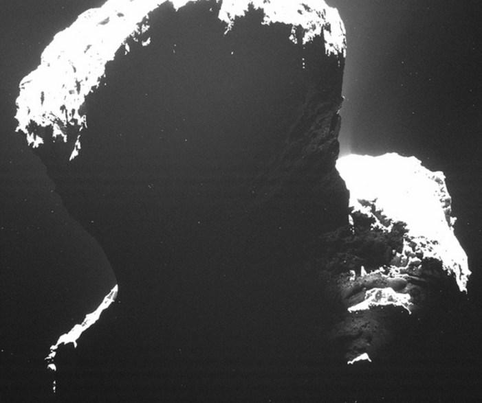 Rosetta's First Peek at the Comet's Dark Side