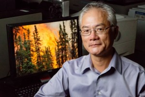 U. of I. professor Feng Sheng Hu led a study of carbon cycling and forest fires in the boreal forests of the Yukon Flats in Alaska. Photo by L. Brian Stauffer