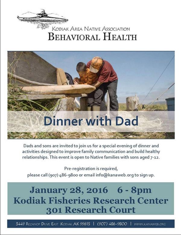 Kodiak-Dinner with Dad