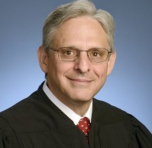 Chief Justice Merrick Garland of the U.S. Court of Appeals for the District of Columbia. Image-Department of Justice.