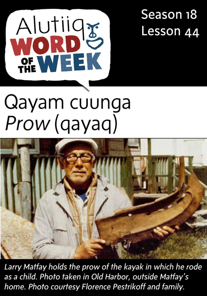 Bow, Prow-Alutiiq Word of the Week-April 24th