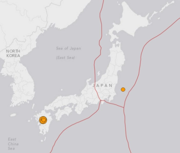 7.0 Magnitude Strikes Japan's Southern-most Island