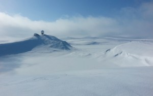 The crater on Lake Hill of St. Paul Island in the Bering Sea. Photo courtesy Mat Wooller.