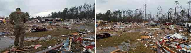 Storm System Roars up U.S. East Coast after Tornados Kill 18