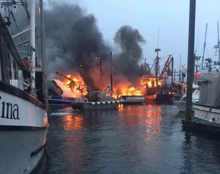 Three Fishing Boats Burn in Craig Harbor