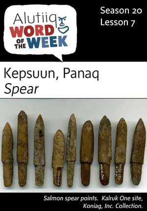 Spear-Alutiiq Word of the Week-August 13th