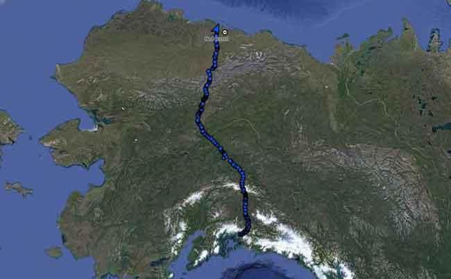 Hike across Alaska Ends with After-Dinner Bear