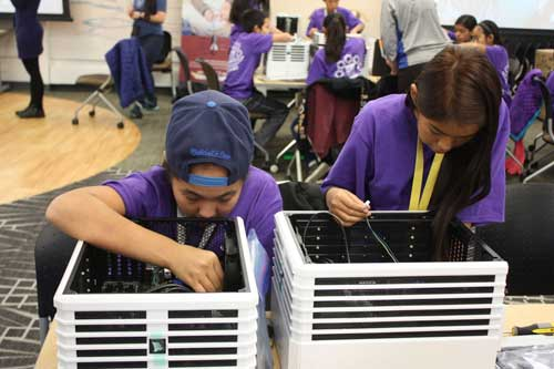 Northwest Arctic Borough School District Students Build Computers at ANSEP