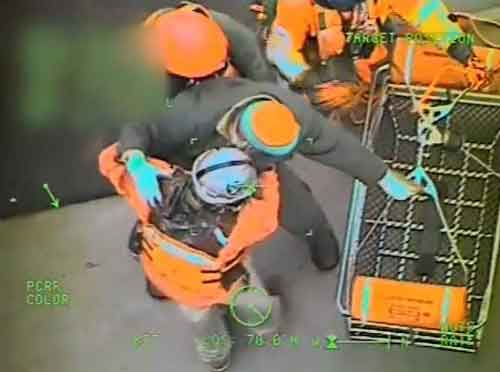 Coast Guard Medevacs Man from Tugboat in Chatham Strait