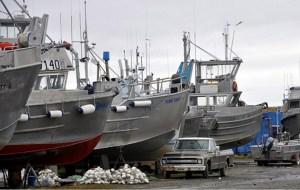 Bristol Bay Driftnetters preparing for the season. Image-EPA