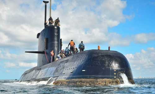 Foul Weather Slows Search for Missing Argentine Sub With 44 Aboard