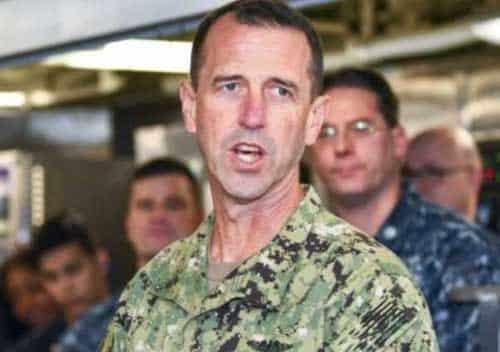 US Navy's Top Admiral Cites Increased Threat in Ocean Nearest Washington