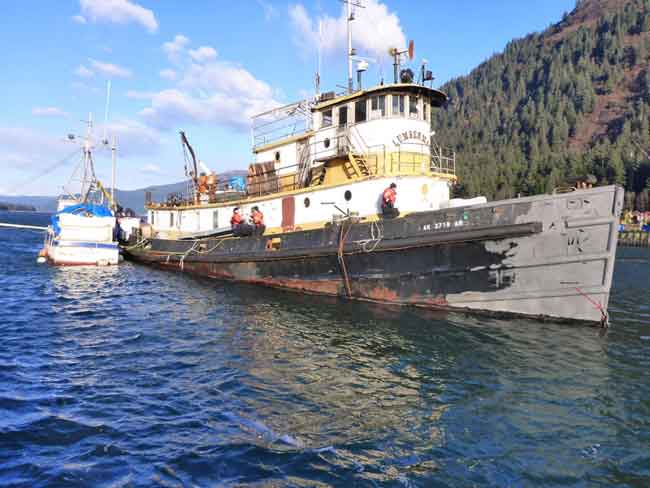 Coast Guard, City and State Partners Continue to Address Tug Lumberman in Juneau